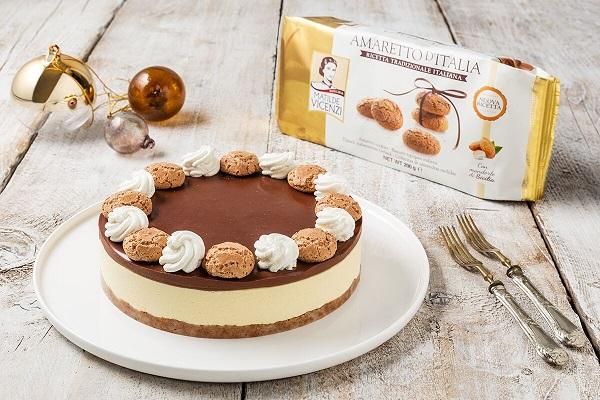 Cheesecake con amaretti e cioccolato